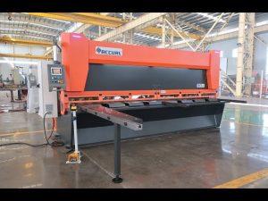 এমএস 8-10x4000 মিমি CNC জলবাহী গিলোটিন শীয়ার সঙ্গে মাস্টার পরিবর্তনশীল রেকে